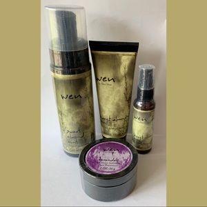 Wen Sweet Almond Mint Bundle Set 4 Hair Products